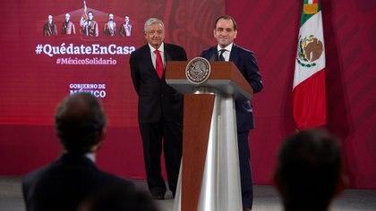 El Secretario de Hacienda Arturo Herrera en una de las conferencia de prensa matutinas del presidente Andrés Manuel López Obrador Foto: Presidencia de la república