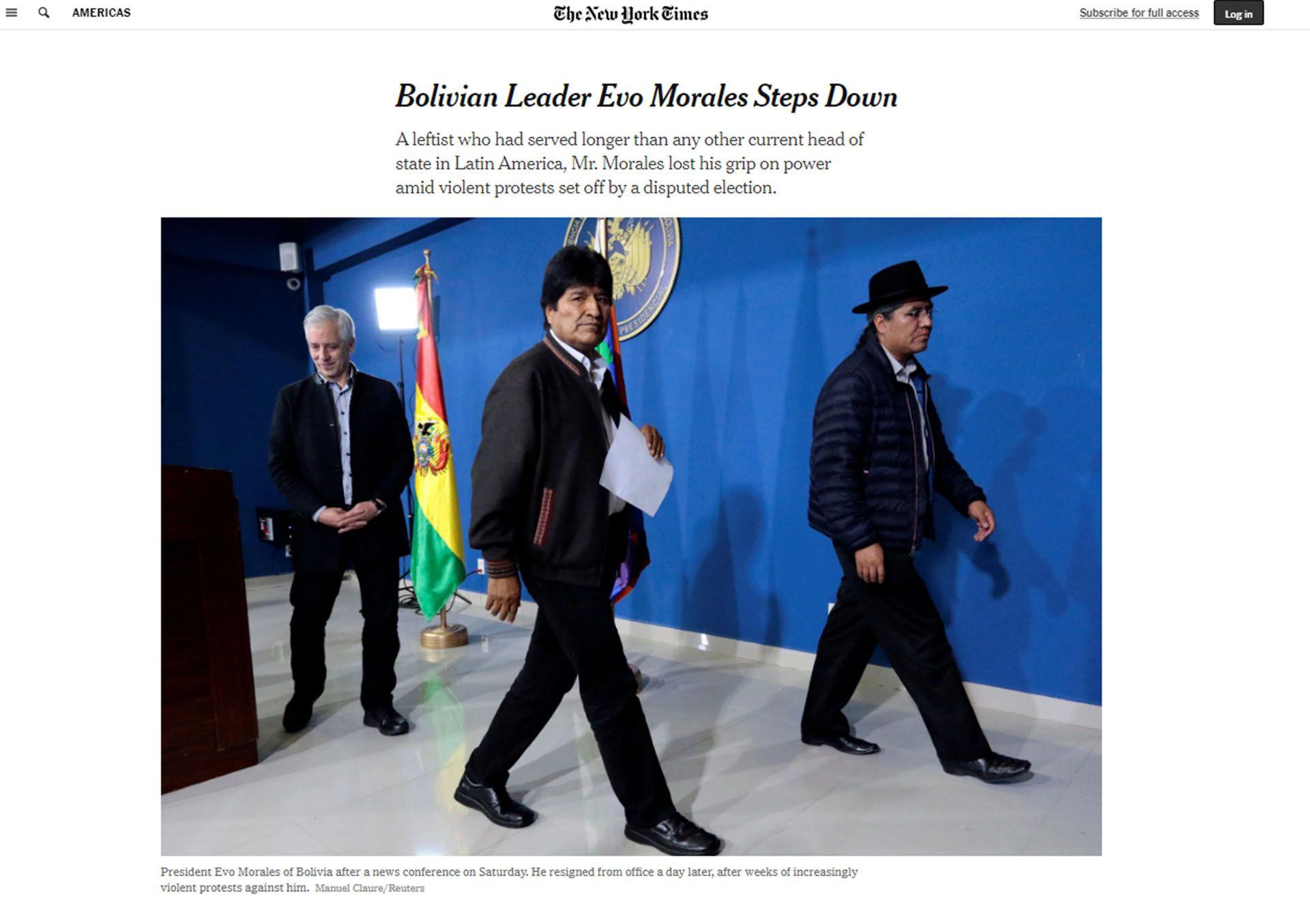 Titulo de The New York Times