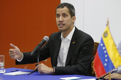 Imagen de archivo del líder opositor Juan Guaidó. EFE/Wladimir Torres/Archivo