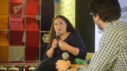 La divulgadora científica Valeria Edelsztein, en el auditorio de TICMAS