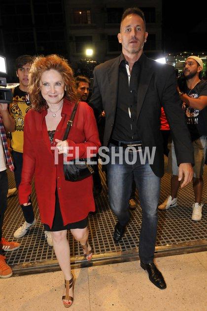 Andrea del Boca con su abogado, Juan Pablo Fioribello (Veronica Guerman)