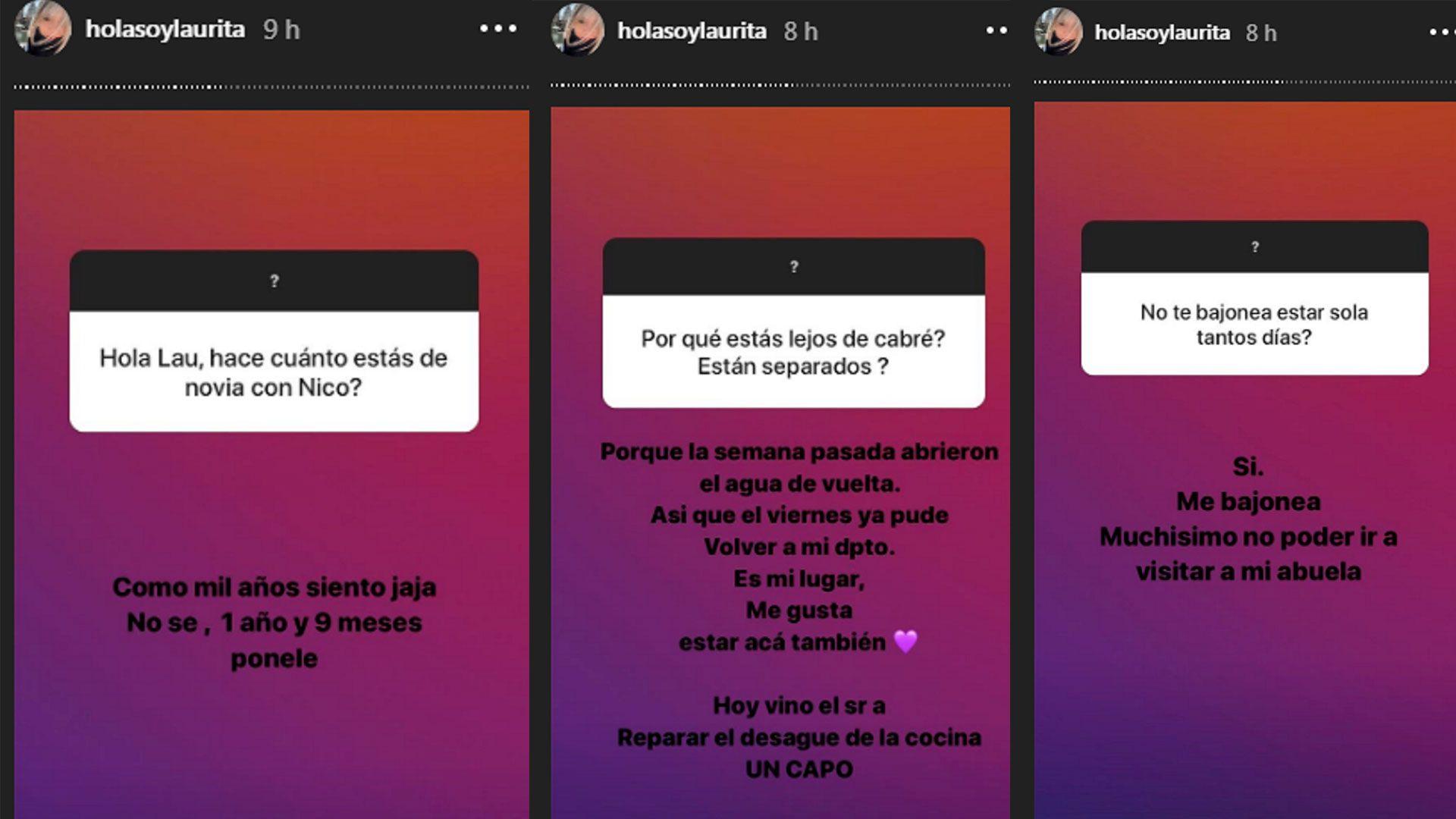 El intercambio entre Laurita Fernández y sus seguidores