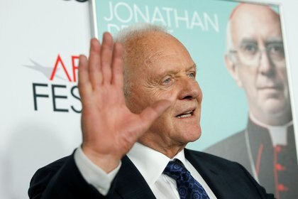 "Anthony Hopkins en la premiere de ""The Two Popes"" (Reuters)"