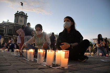 Según cifras oficiales,  se reportaron 144 feminicidios sólo entre marzo y abril de este año. (Foto: Twitter@JulietaMejia)
