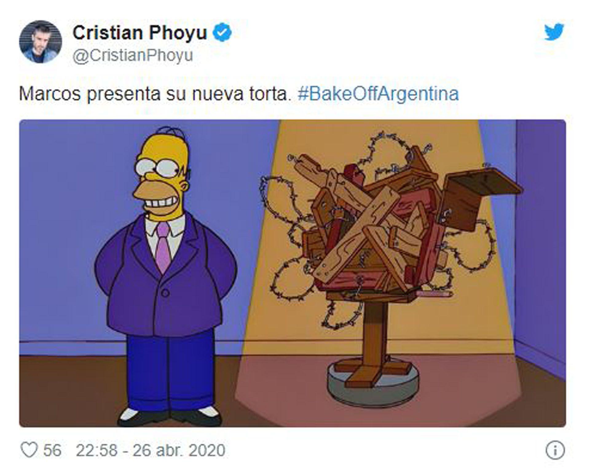 Marcos quedó finalmente eliminado de Bake Off Argentina (Foto: Twitter)