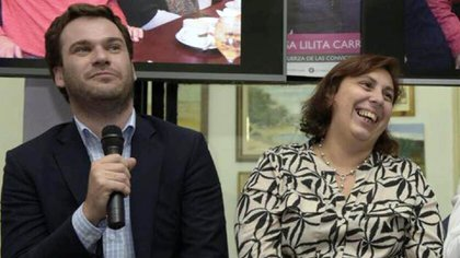 Juan Manuel López y Paula Oliveto