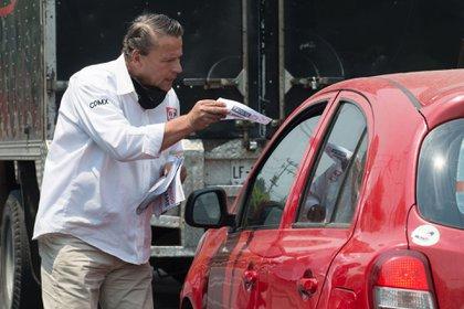 Pese al rechazo de ciertos automovilistas, el actor expresó sentir el apoyo de la gente (Foto: Cuartoscuro)