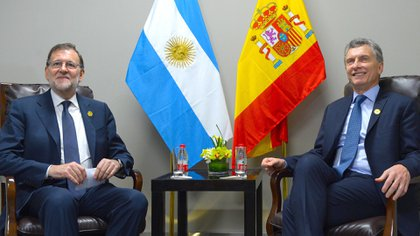 El presidente Mariano Rajoy y Mauricio Macri. (Presidencia)