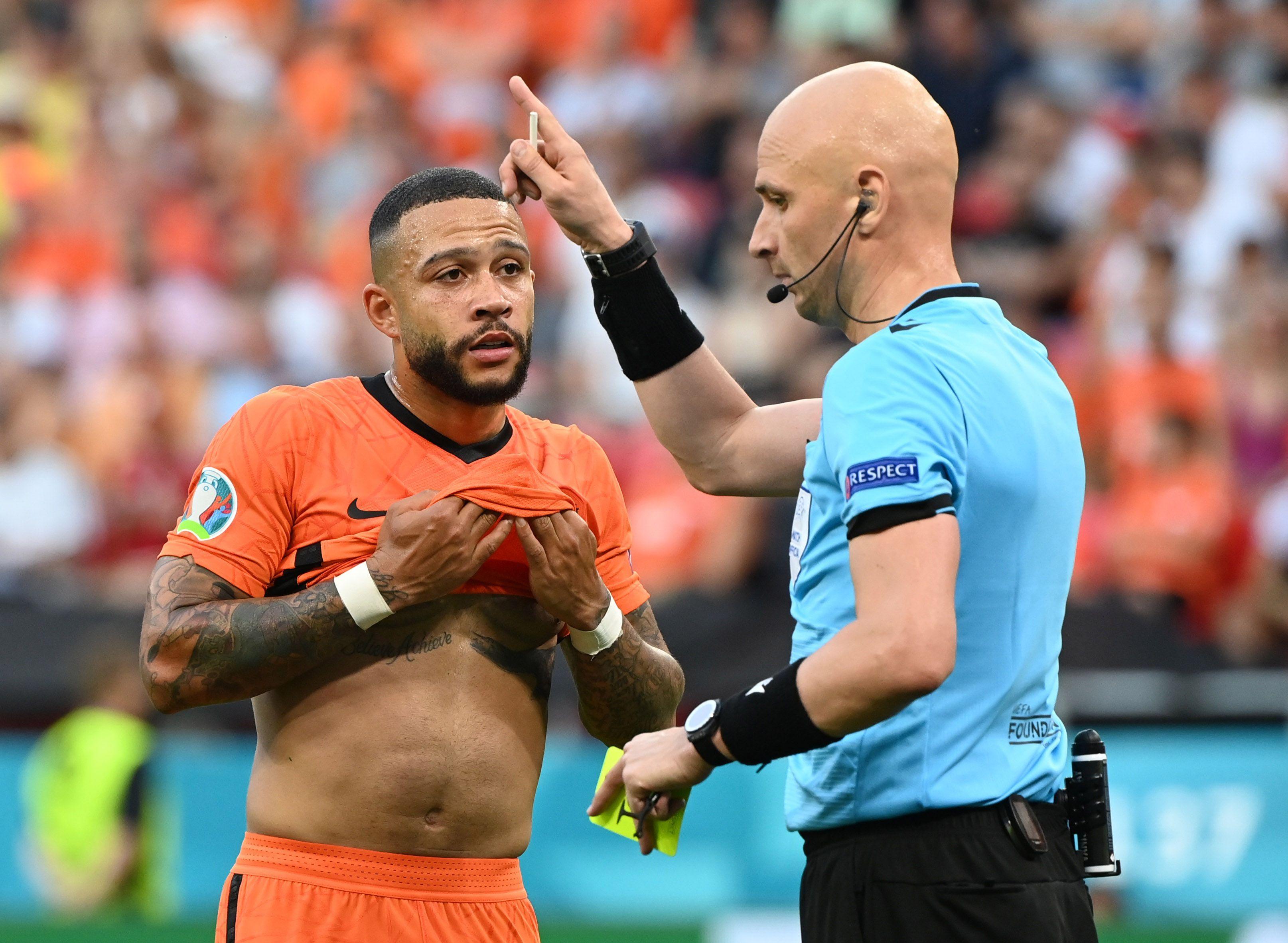 Depay se despidió de la Eurocopa tras la caída de Paises Bajos frente a república checa (Reuters)