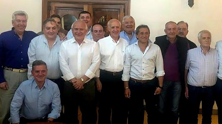 El ex ministro durante una cena con dirigentes de l CGT