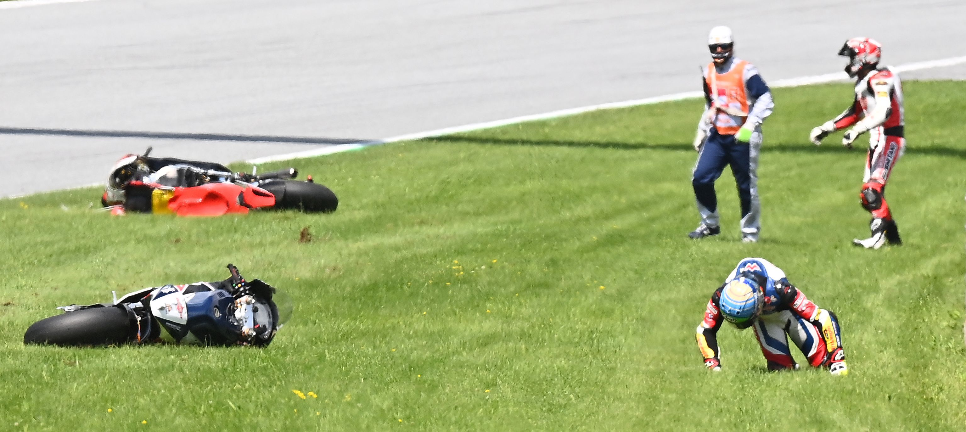 Accidente en el Moto 2 de Austria