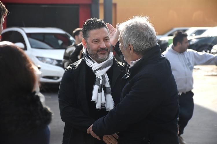 El intendente de Merlo, Gustavo Menéndez