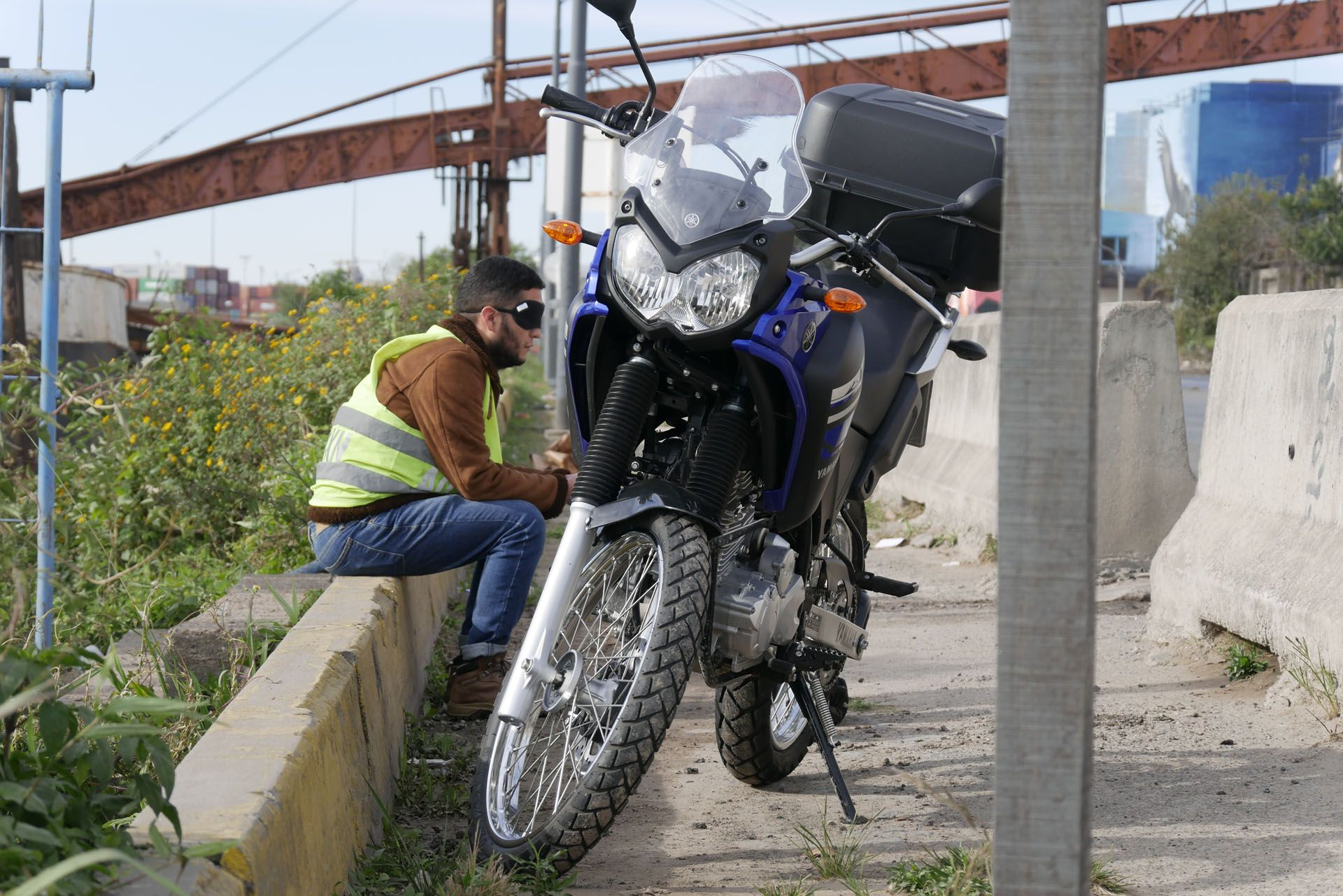 La motoperfo de Lisandro Rodríguez; foto de Carla Petrillo