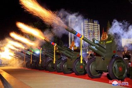 Défilé militaire en Corée du Nord.  KCNA via REUTERS / File Photo