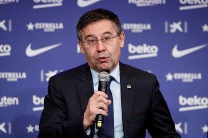 Josep Maria Bartomeu se mostró confiado de cara al voto de censura que podría sacarlo de las oficinas del Camp Nou (Reuters)