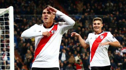 Juan Fernando Quintero celebra su gol (REUTERS)