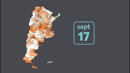 Uno de los mapas que exhibieron en el video del anuncio