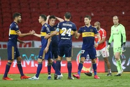 Boca consiguió una victoria fundamental en la ida de octavos frente a Inter (REUTERS/Diego Vara)
