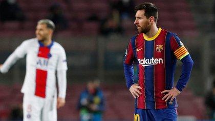 Barcelona perdió ante PSG y quedó al borde de la eliminación (Reuters/ Albert Gea)