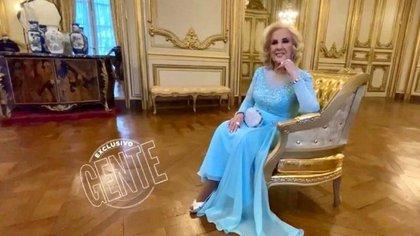 Mirtha Legrand en el Museo Nacional de Arte Decorativo para hacer las fotos de los personajes del año de Revista Gente (Foto: Gente)
