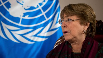 La Alta Comisionada de Naciones Unidas para los derechos humanos, Michelle Bachelet. EFE/ Miguel Gutiérrez