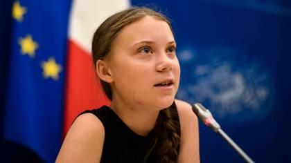 Greta Thunberg, la joven eco-activista de 16 años (AFP)