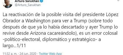 Twitt Arturo Sarukhan (Foto: Twitter@Arturo_Sarukhan)