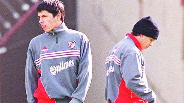 Los inicios de Saviola en River junto a quien después sería su entrenador: Marcelo Gallardo