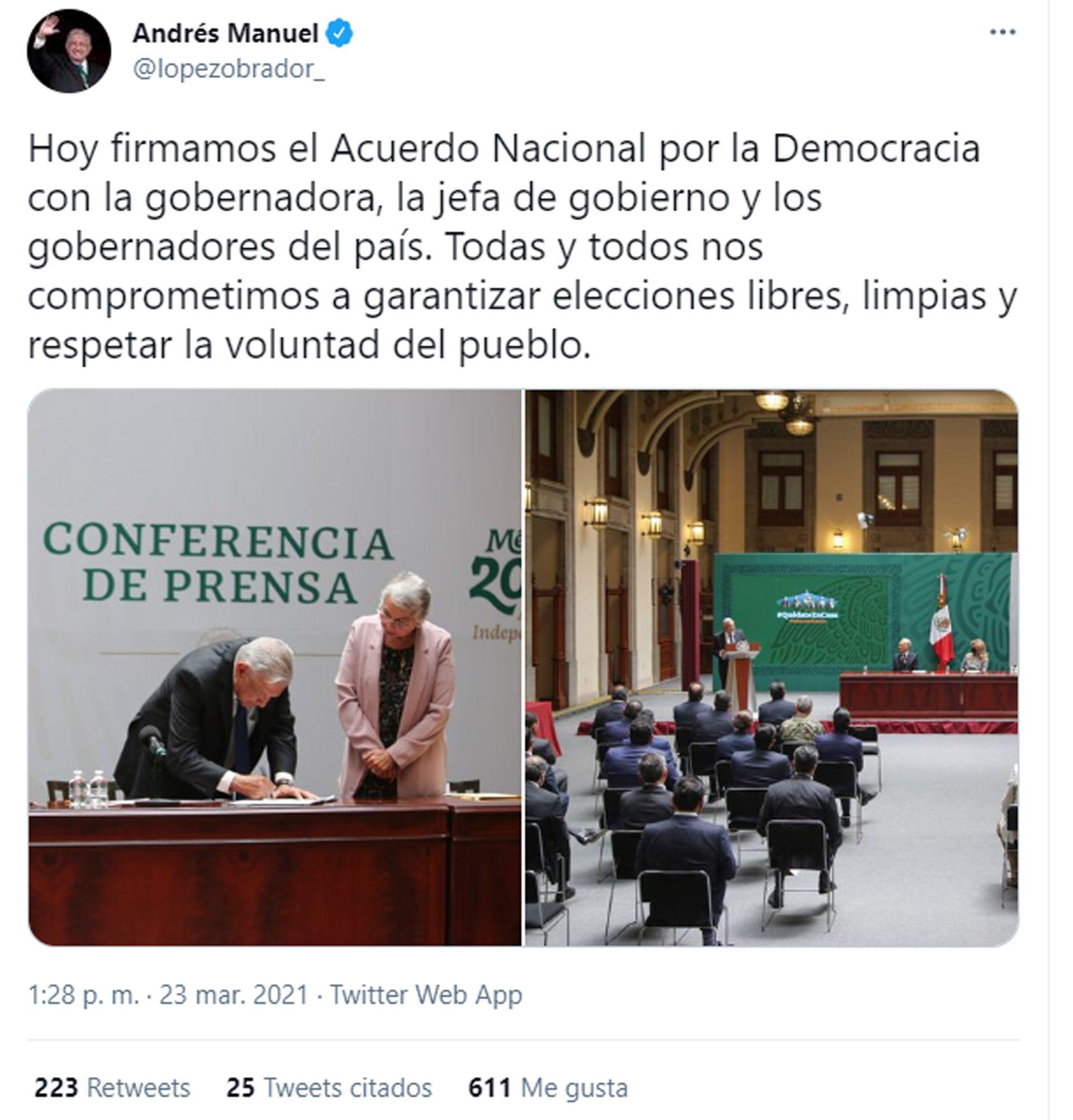 AMLO - ANDRES MANUEL LOPEZ OBRADOR - MEXICO - CONFERENCIA - PRESIDENCIA - 23032021