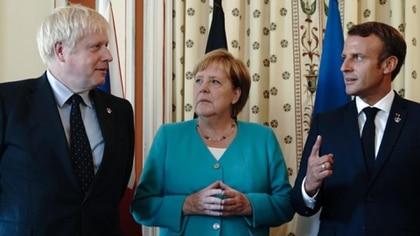 Boris Johnson, Angela Merkel, Emmanuel Macron