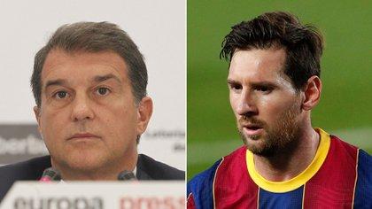 Joan Laporta se refirió a la continuidad de Lionel Messi en Barcelona