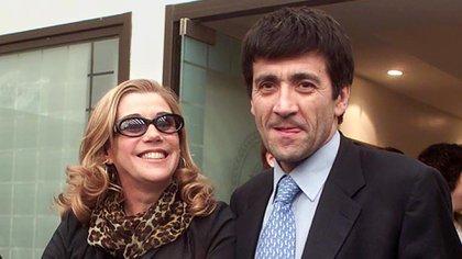La conductora Marcela Tinayre junto a su entonces esposo Marcos Gastaldi (2001) Foto: CLAUDIA CONTERIS/DIARIO POPULAR