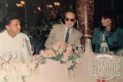 Luismi, Hugo López y Lucía Miranda. (Foto: Archivo Atlántida)