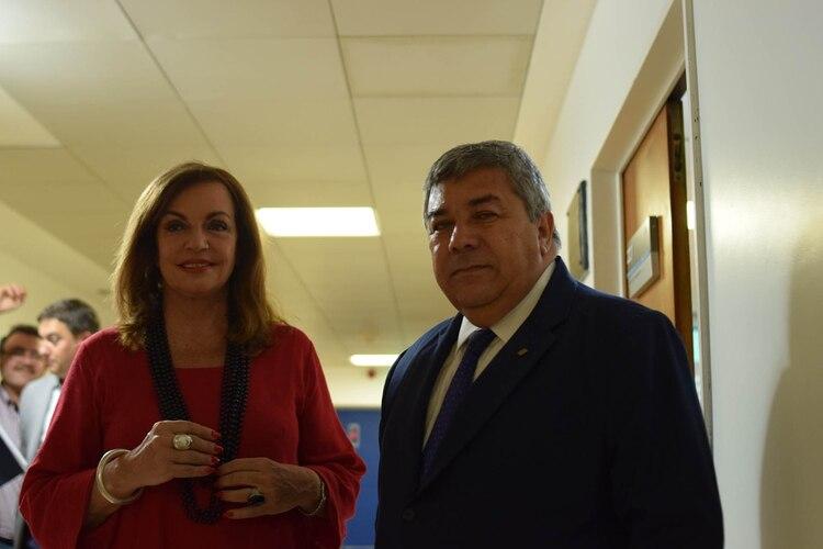 Nilda Garré y Carlos Fernández, Presidenta y Vicepresidente de la Comisión de Defensa ( Fernando Morales)