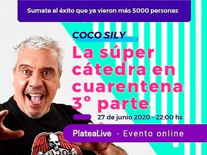 El anuncio de La Cátedra online que compartió Coco en sus redes