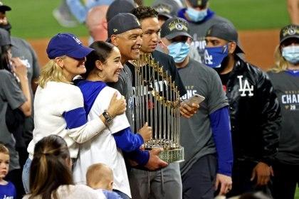 Los Ángeles Dodgers han terminado con una racha de 32 años sin ganar un título (Foto: Kevin Jairaj/ USA TODAY Sports)