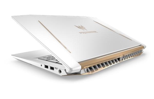 La Predator Helios 300 en edición especial en blanco y dorado, notebook insignia de Acer para el mercado gamer