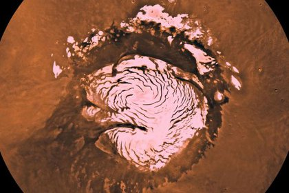 Los polos del planeta rojo tiene hielo. El robot buscará hielo o agua en otros sitios marcianos. (NASA)