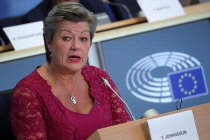 La comisaria europea de Interior, Ylva Johansson (REUTERS/Yves Herman/File Photo)