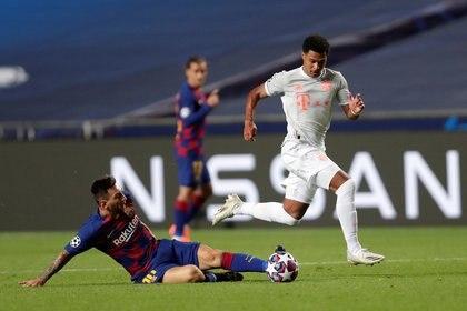 El partido del Barcelona ante el Bayern en Lisboa fue una catástrofe y Lionel Messi decidió cerrar la puerta (REUTERS)