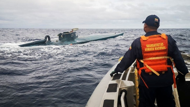 La captura de un narcosubmarino en el Pacífico colombiano (AFP/foto de archivo)