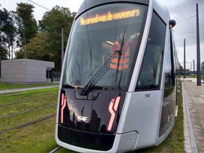 Barillaro prueba su innovador sistema en un transporte de Luxemburgo en 2019 (INTI)