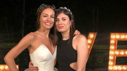 Viviana Benítez en la boda de Pampita y Roberto