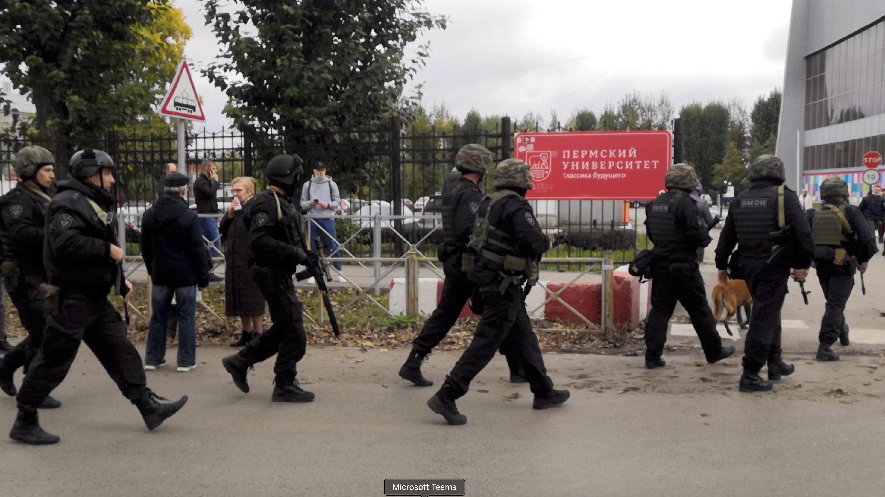 Operativo en la Universidad de Pern (Reuters)