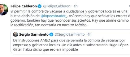 (Foto: Twitter/FelipeCalderon)