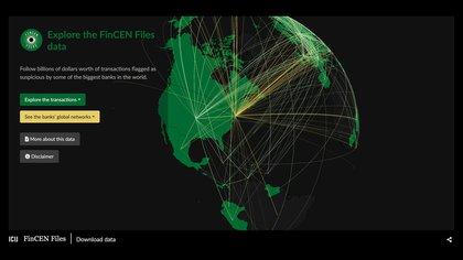ICIJ analizó las transacciones financieras reflejadas en más de 2.100 reportes de operaciones sospechosa de clientes en más de 170 países.