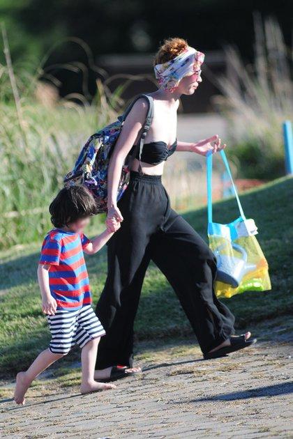 Sofía Gala y su hijo menor