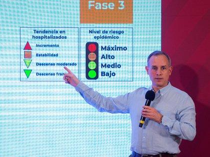 El subsecretario explicó qué actividades podrán operar durante los colores rojo y naranja del semáforo epidemiológico (Foto: EFE/Presidencia de México/)