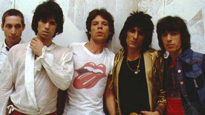La banda de rock británica los Rolling Stone.