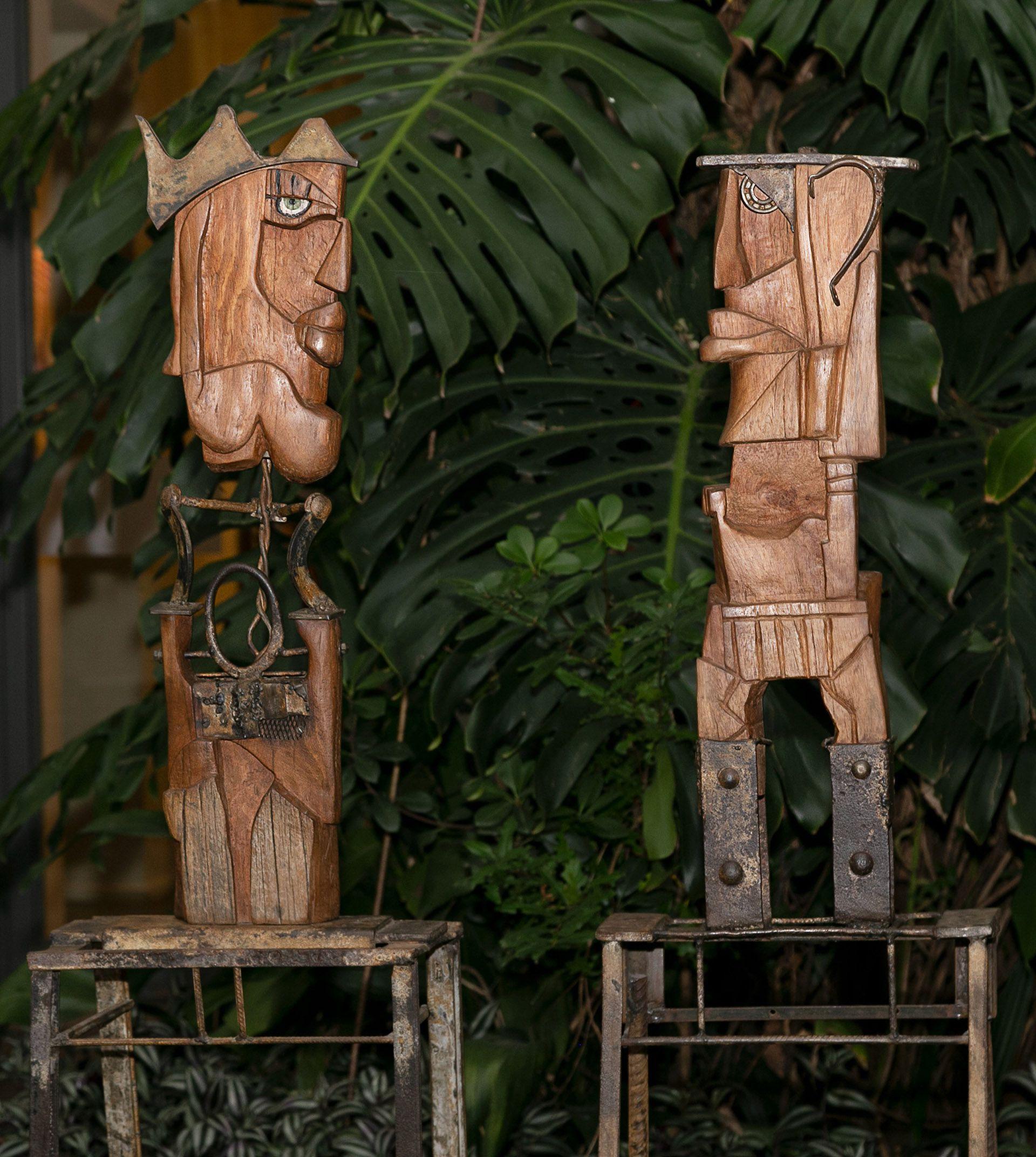 """la escultora Carmela Blanco inauguró su muestra """"A cielo abierto"""""""